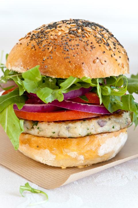 Hausgemachte Fischhamburger