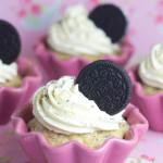 Oreo Cupcakes mit weißer Schokolade