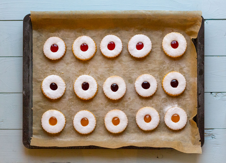 Linzer Plätzchen mit Marmelade