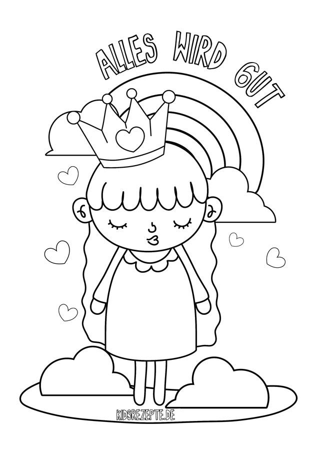 11 regenbogenmalvorlagen für kinder alleswirdgut