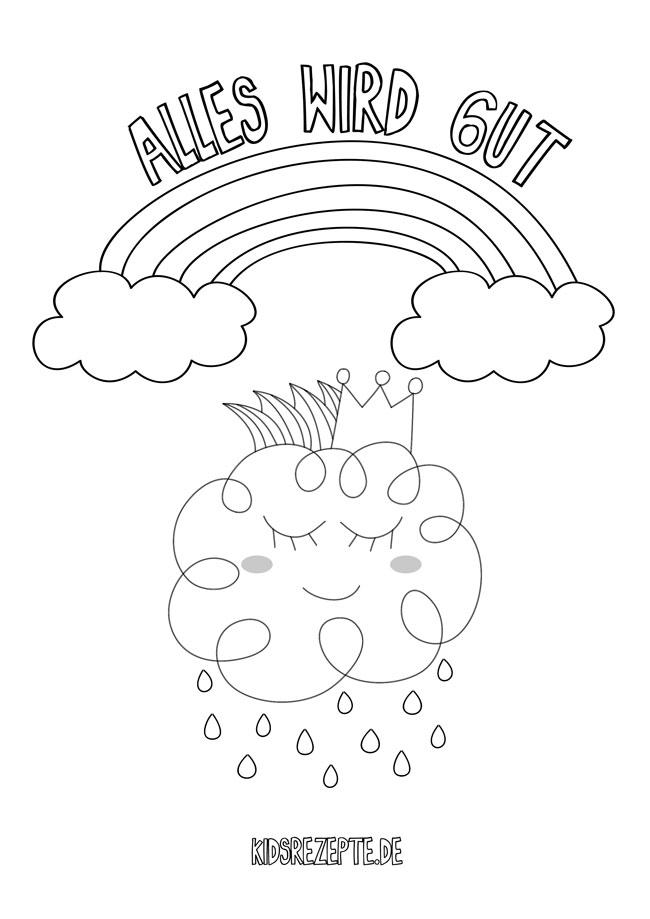 11 regenbogen-malvorlagen für kinder: #alleswirdgut